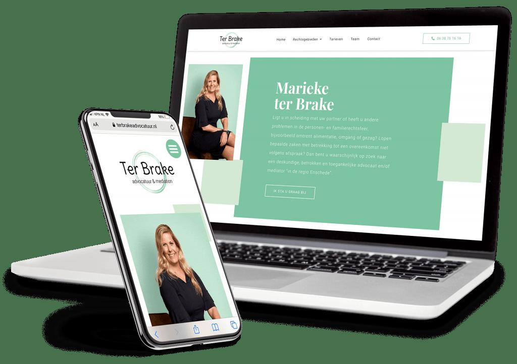 Ter Brake Advocatuur website